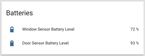 Track battery levels with Home Assistant and Custom UI
